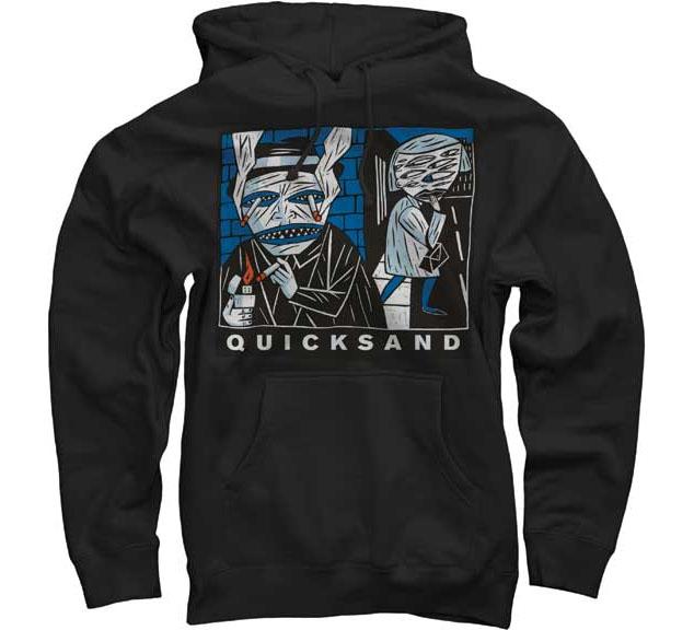Quicksand- Smoker on a black hooded sweatshirt