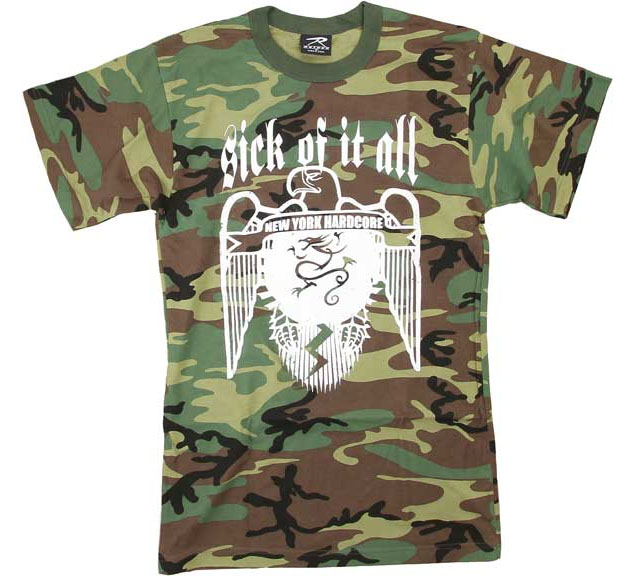 Sick Of It All- Eagle on a camo shirt