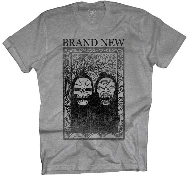 Brand New- Reapers on a heather grey shirt