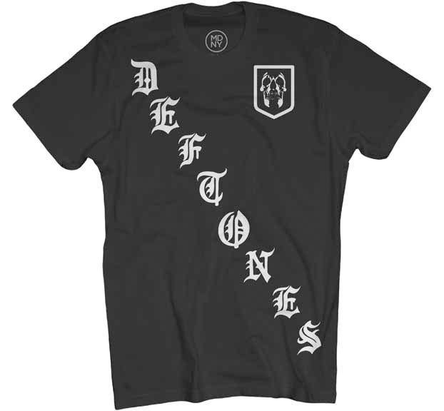 Deftones- Rangers on a black shirt
