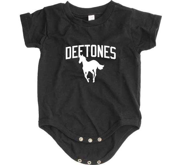 Deftones- Pony on a black onesie (S=0-6m, M=6-12m, L=12-18m)
