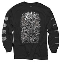 Morbid Angel- Altars Of Madness on front, Logos on sleeve on a black LONG SLEEVE shirt