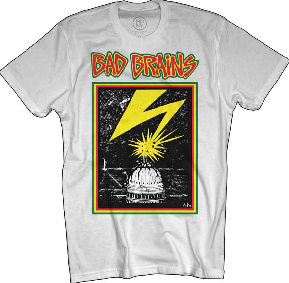 Bad Brains- Lightning on a white shirt