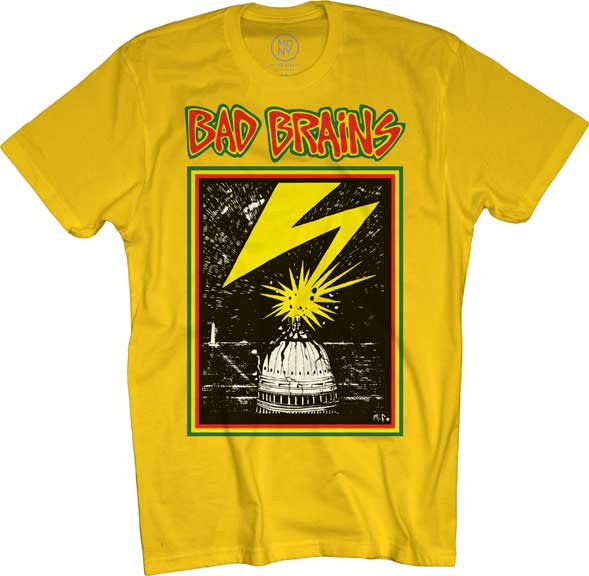 Bad Brains- Lightning on a yellow shirt