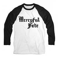 Mercyful Fate- Logo on a white/black 3/4 sleeve shirt