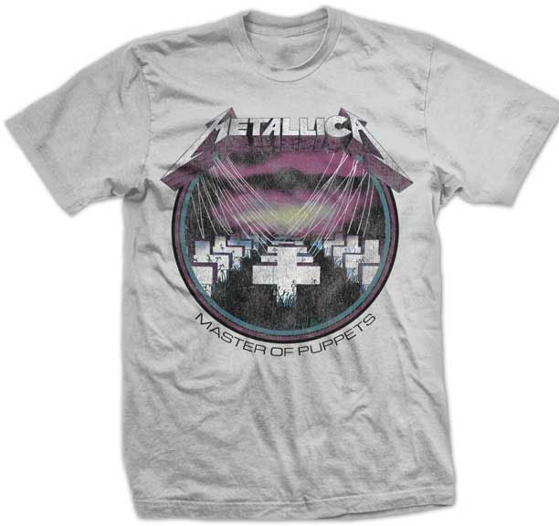 Metallica- Master Of Puppets on a charcoal shirt (Sale price!)