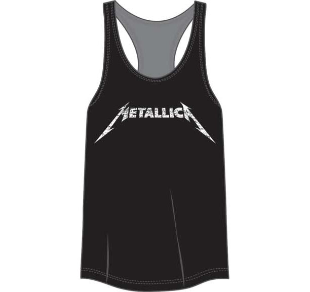 Metallica- Logo on a black girls racerback shirt (Sale price!)