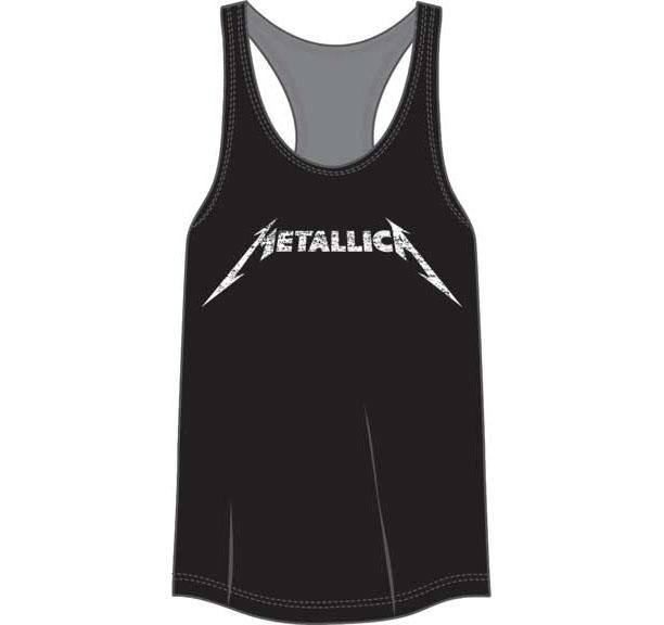 Metallica- Logo on a black girls racerback shirt (Sale price!)
