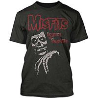 Misfits- Legacy Of Brutality (Skull) on a black ringspun cotton shirt