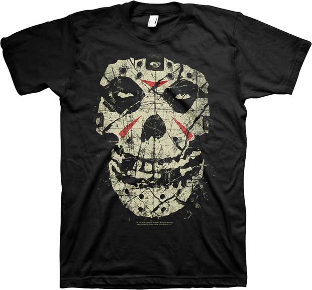 Misfits- Crystal Lake Fiend on a black ringspun cotton shirt