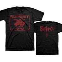 Slipknot- Iowa on front, Logo on back on a black shirt