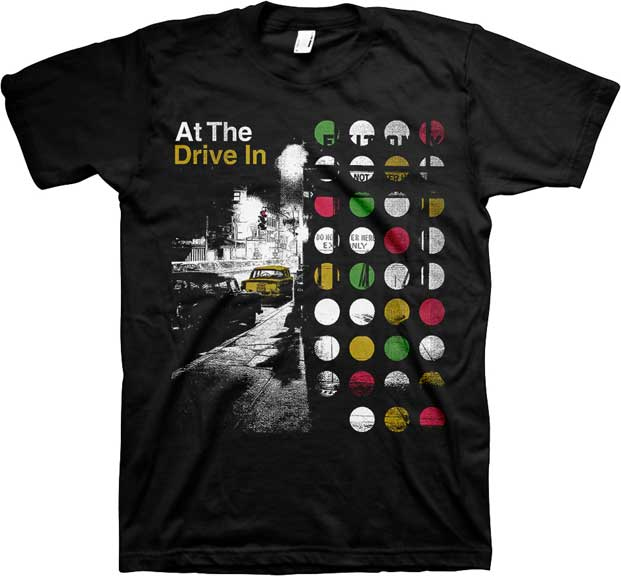At The Drive In- Street on a black ringspun cotton shirt