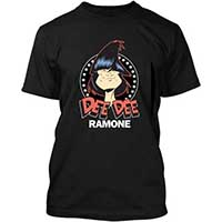 Dee Dee Ramone- Face & Stars on a black ringspun cotton shirt