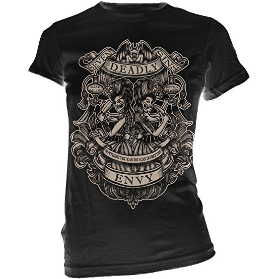 Envy Women's Sin Tee by Se7en Deadly - SALE sz M only