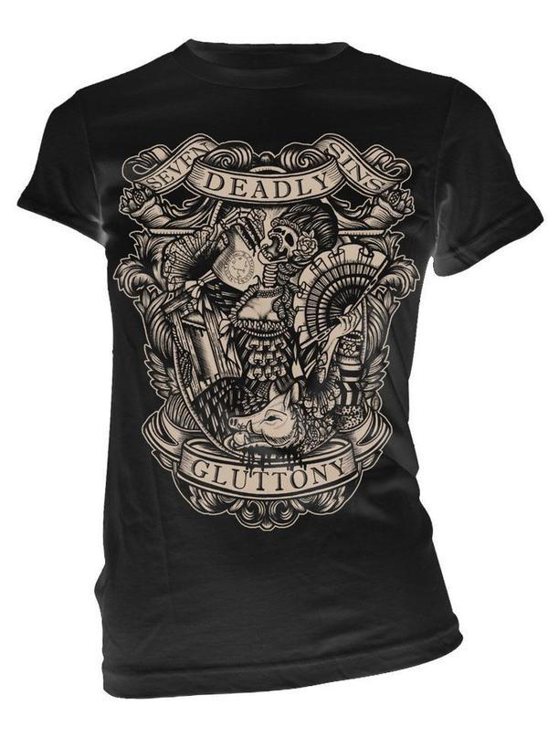 Gluttony Women's Sin Tee by Se7en Deadly - SALE