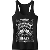 Johnny Cash- The Man In Black on a girls racerback shirt