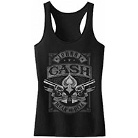 Johnny Cash- Mean As Hell on a girls racerback shirt