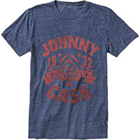 Johnny Cash- 1932 Spade on a heather navy shirt