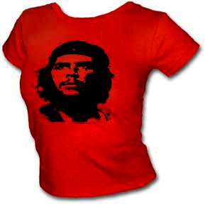 Che Guevara- Classic Pic on a red girls fitted shirt (Sale price!)