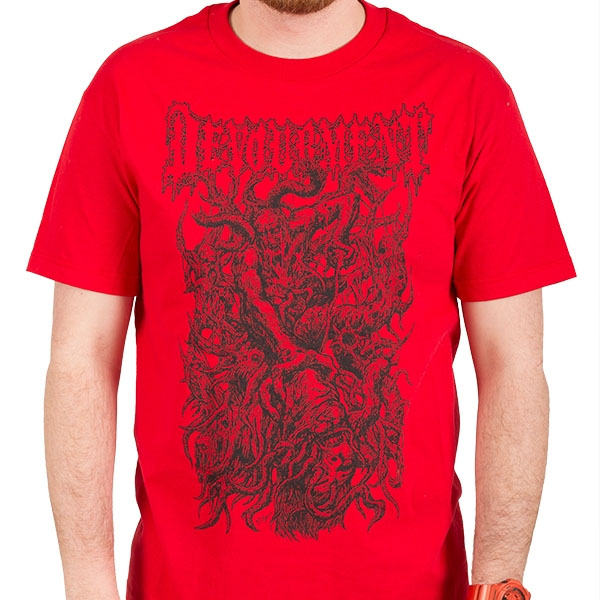 Devourment- Toshi on a red shirt