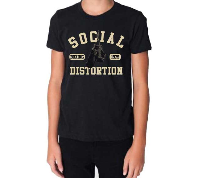 Social Distortion- Boxing Gloves on a black shirt (Sale price!)