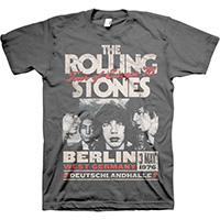 Rolling Stones- Berlin 1976 on a grey shirt