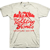Rolling Stones- New York City June 1975 on a natural shirt