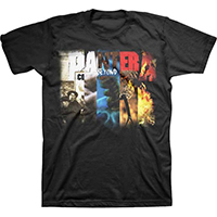 Pantera- Collage on a black shirt