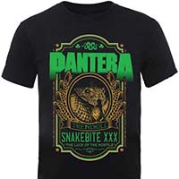 Pantera- Snakebite on a black shirt