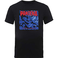 Pantera- Alive And Hostile on a black shirt