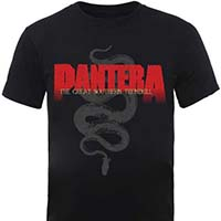 Pantera- The Great Southern Trendkill on a black shirt