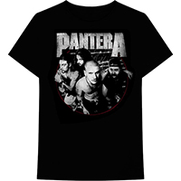 Pantera- Distressed Band Pic on a black shirt