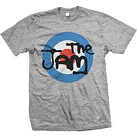 Jam- Mod Logo on a grey shirt