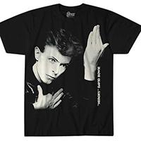 David Bowie- Heroes Large Print on a black ringspun cotton shirt