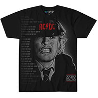 AC/DC- Angus Face (Large Print) on a black shirt