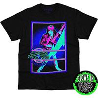 AC/DC- High Voltage Black Light on a black shirt (Glows In The Dark)