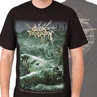 Cattle Decapitation- Anthropocene Extinction on front & back on a black shirt