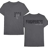 Black Sabbath- Small Vol 4 on front, Band Pics on back on a grey shirt