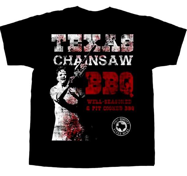 Texas Chainsaw Massacre- BBQ on a black shirt
