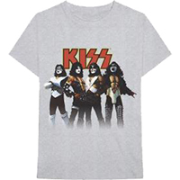 Kiss- Love Gun Band Pic on a grey shirt