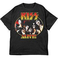Kiss- Alive (Color Band Pic) on a black shirt