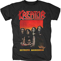 Kreator- Extreme Aggression on a black shirt