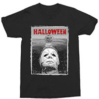 Halloween- Michael Myers Jaws on a black shirt