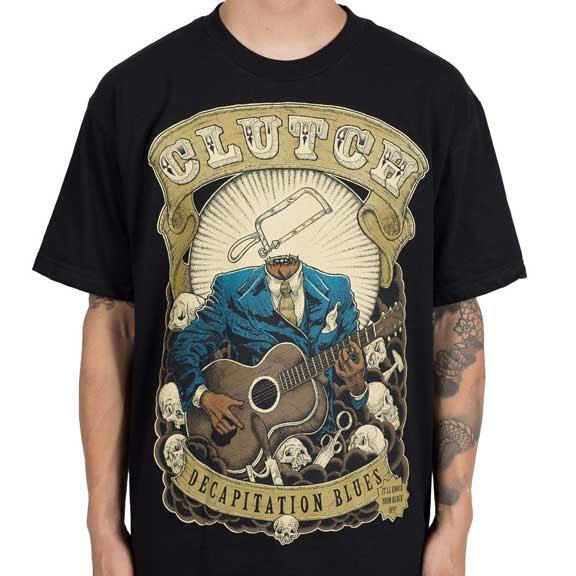 Clutch- Decapitation Blues on a black shirt