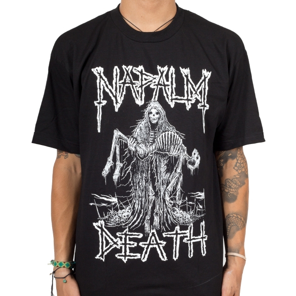 Napalm Death- Reaper on a black shirt