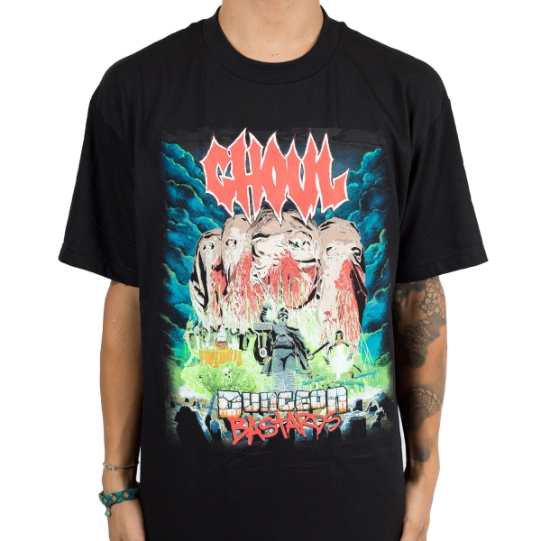 Ghoul- Dungeon Bastards on a black shirt