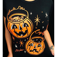 Smile Now Cry Later Women's Tee by Cartel Ink & Lucky Hellcat - Pumpkins
