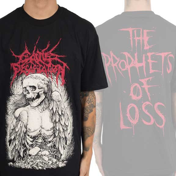 Cattle Decapitation- Winged Corpse on front, Prophets Of Loss on back on a black shirt (Sale price!)