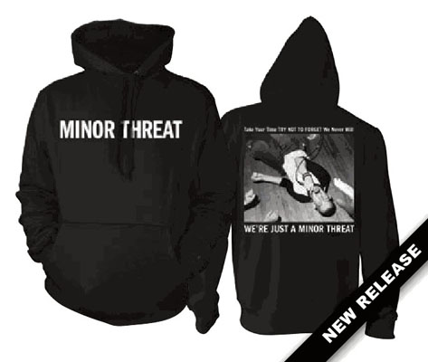 Minor Threat- Logo on front  We re Just A Minor Threat on back on a    Minor Threat Logo