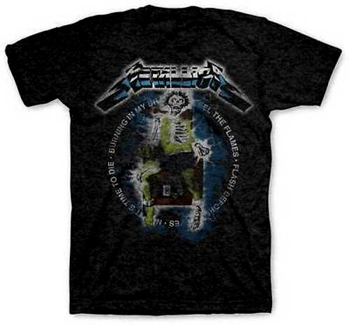Metallica- Vintage Electric Chair on a charcoal heather ringspun cotton shirt